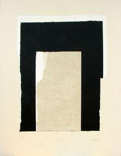 Rafael Canogar. Modulo (286). Serigrafía y collage. Edición Arteinversión