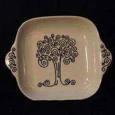Hand Painted Tree of Life Ceramic Tray on Etsy, $30.00