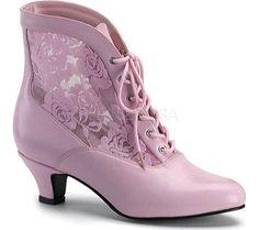 Funtasma Dame 05 - Baby Pink PU/Lace - FREE Shipping & Returns | Shoebuy.com