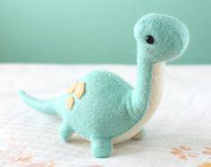 PDF Pattern Felt Stegosaurus Dinosaur Plush by typingwithtea