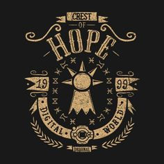 HOPE T-Shirt - Digimon T-Shirt is $12.99 today at Once Upon a Tee!