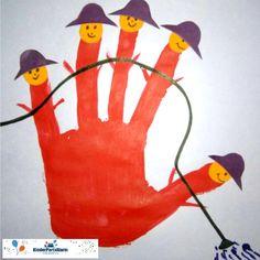 Eine Handabdruck Einladung Zum Feuerwehr Kindergeburtstag