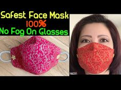 (#196)How To Make The Safest Best Fitted-No Fog On Glasses Face Mask @ Home-The Twins Day Face Mask - YouTube Small Sewing Projects, Sewing Projects For Beginners, Sewing For Kids, Sewing Tutorials, Sewing Ideas, Sewing Box, Quilting Tutorials, Easy Face Masks, Diy Face Mask