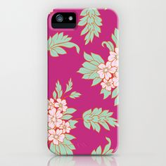 Pink Floral Bouquet iPhone Case by patterndesign - $35.00    Artwork: Viktoryia Yakoubuskaya @ patterndesigns.com