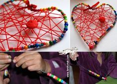 Wire Hanger Heart | 14 DIY Valentine's Day Crafts For The Kids