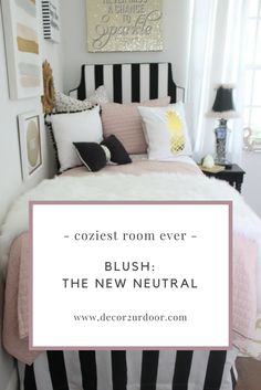 Fun, Fringe, and Fur! This dorm bedding set is totally trendy. Our blush pink quilt combines with bold black stripes, metallic dalmatian print, fur, fringe, and bows. Gotta have it? We feel ya! It's FUR-IFFIC! We adore this bold black and white striped dorm room headboard and extended length dorm room bed skirt. This blush twin xl quilt is to die for!!!