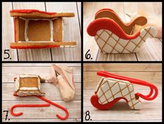 LilaLoa: Gingerbread Sleigh Tutorial and Template Her stuff is incredible Homemade Gingerbread House, Gingerbread House Template, Cool Gingerbread Houses, Gingerbread House Designs, Gingerbread House Parties, Gingerbread Village, Christmas Gingerbread House, Christmas Sweets, Christmas Cooking