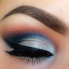 Ocean sunset. ¡Precioso maquillaje de ojos!