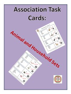 Task cards that include vocabulary on the topics of animals and household objects.  The cards teach the strategy of using association to learn vocabulary words.  They are self checking with answers and the use of QRC codes.  The cards are also a good way to elicit spontaneous speech for other speech goals.