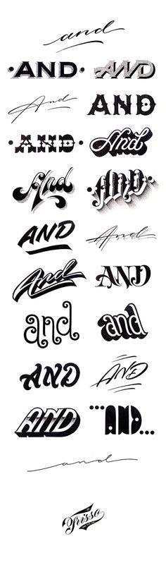 A study on the word AND #Lettering #skills #design  (photo credit Carl Fredrik Angell )