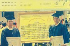 Khem, Veasna when he graduated with bachelor of law at RULE.