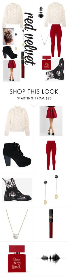 """Be Who You Want To Be"" by lillian-snider ❤ liked on Polyvore featuring Acne Studios, Charlotte Russe, Dinosaur Designs, Dogeared and NARS Cosmetics"