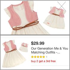Next Generation Target me & doll outfit   Sz 4 or 6