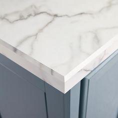 Marble-look laminate countertop