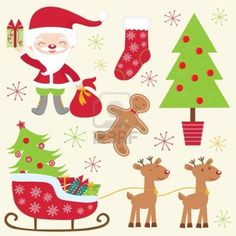 A cute colorful christmas collection Stock Photo - 16131475