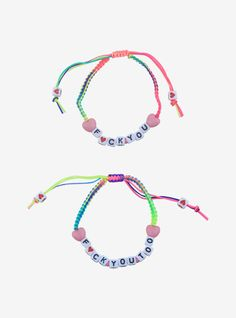Making Bracelets With Beads, Friendship Bracelets With Beads, Diy Bracelets Easy, Rubber Bracelets, Cute Bracelets, Handmade Bracelets, Beaded Bracelets, Embroidery Bracelets, Candy Bracelet