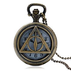 Hogwarts School Badge Harry Potter Pocket Watch Quartz Watch Men with Necklace Chain Gift P343
