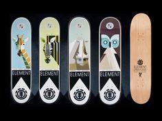 Lumadessa Nature decks from Element Skateboards