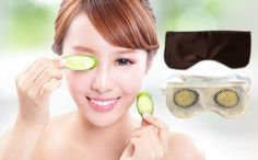Before wedding day bliss a brides,mother-of the bride NEED this.CU mask. Simply place fresh sliced cucumbers in this silk pouch and lay down and chill out.Great for puffy eyes and more.