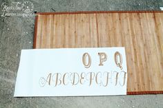 Decor Steals Typography Bamboo Floor Mat Knock-Off - Knick of Time