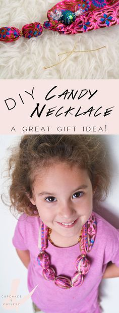 How to make a DIY candy necklace! This easy craft makes a great edible gift idea for graduations and any kid's birthday! Click through to find out how to make it even more fashionable!