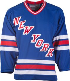 New York Rangers CCM Vintage 1984 Royal Replica NHL Hockey Jersey Original  Six 399f94926