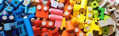 Wooden blocks. I giocattoli in legno stimolano i bambini a manipolare, immaginare, creare, scoprire i colori, ascoltare i rumori. Trovate costruzioni in legno per bambini a partire da 1 anno su http://www.giochiecologici.it/c/12/costruzioni-in-legno