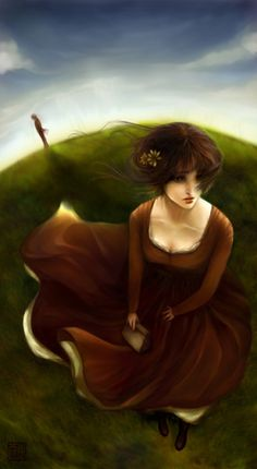 Gorgeous Pride and Prejudice painting. I would totally hang this on my wall. #prideandprejudice #janeausten