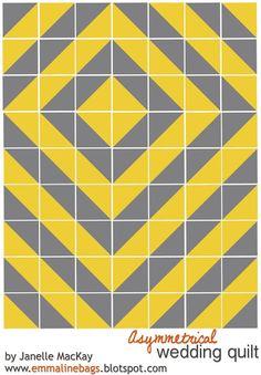 A Modern Asymmetrical Quilt