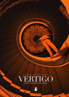Vertigo (1958) ~ Alternative Movie Poster by Jan Wurtmann #amusementphile