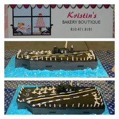 Navy Cake -USS America Cake  by Kristins Bakery Boutique