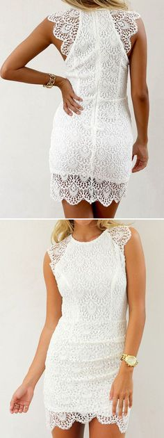 White Dress with Amazing Details