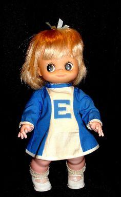 "VINTAGE Eugene CHEERLEADER Doll 1970's big eye 12"" #Eugene"