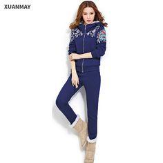 Jumpsuits Purposeful Autumn Winter Thick Velvet Jumpsuits For Women 2018 Long Sleeve Warm Big Size Fitness 2 Piece Velours Sets Rompers Big/plus Size