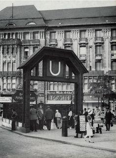 Potsdamer Platz und »»Hotel Fuerstenhof in den 30ern