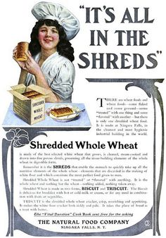 It's all in the shreds! Edwardian cereal vintage food ad