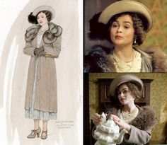 Beavan had fun experimenting with the different looks of Queen Elizabeth (Helena Bonham Carter). Due to the film's limited costume budget, Beavan creatively changed the look of an entire outfit with the help of some vintage accessories. 'We couldn't afford huge amounts of different outfits, but changing the hat changed the look,' Beavan told the Seattle Times. 'Every single one we put on her just looked wonderful.'
