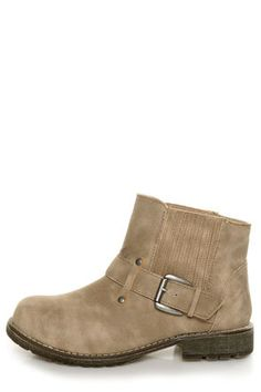 Check it out from Lulus.com! For a look that you won't mind repeating day after day, the Dirty Laundry Rerun Nora Sand Gusseted Ankle Boots have got you covered! Burnished taupe vegan suede booties have a low-slung ankle belt with adjustable, brushed silver hardware, and stretchy elastic gussets with vegan suede panels along both sides of the ankle. Round toe. 4.5