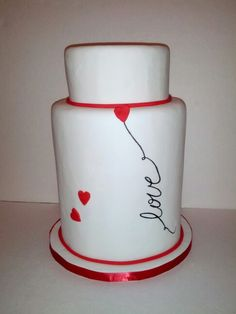 #Love #weddingcake #hearts #redandwhite - www.lindascreationscustomcakes.com Red And White, Wedding Cakes, Jar, Hearts, Decor, Wedding Gown Cakes, Decoration, Wedding Cake, Dekoration