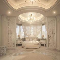 Dream Bedroom Design Ideas For Luxury House Dream Rooms, Dream Bedroom, Home Bedroom, Bedroom Decor, Royal Bedroom, Fancy Bedroom, Bedroom Ideas, Mansion Bedroom, Lux Bedroom