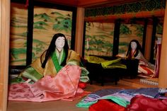 Dolls dressed in junihitoe Hina Dolls, Heian Period, Traditional Kimono, Japan, Painting, Clothes, Prince, Dresses, Outfits