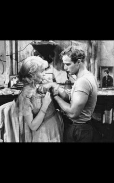 Best Actress 1951 Vivian Leigh as Blanche DuBois in A streetcar named desire 1951 Here with Marlon Brando Directed by Elia Kazan from the novel of Tennessee Williams