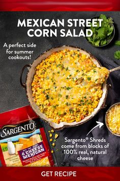 Mexican Street Corn Salad, Mexican Cheese, Corn Salads, Sweet Corn, Summer Salads, Side Dishes, Appetizers, Tossed, Vegetables