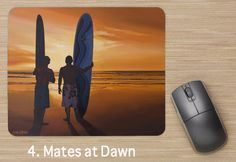 Mates at Dawn Mouse Pad available @ www.leisaoart.com