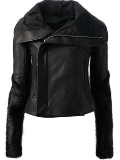 Shop Rick Owens fitted biker jacket in Solis from the world's best independent boutiques at farfetch.com. Over 1000 designers from 300 boutiques in one website.