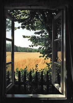 62 ideas for nature pictures country summer Beautiful World, Beautiful Places, Nature Architecture, Jardin Decor, Affinity Photo, Window View, Open Window, Through The Window, Oeuvre D'art