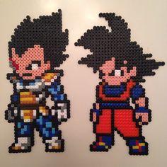 Dragon Ball - Goku and Vegeta hama beads by vixxi89