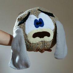 Crochet pillow.. Sad dog