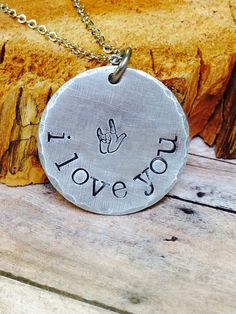 I love you necklace on Etsy, $22.00