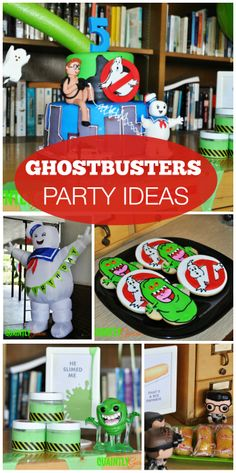 What a fun retro Ghostbusters boy birthday party with awesome cookies and party activities! See more party ideas at CatchMyParty.com!